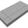 บล็อกปูพื้น ศิลาเหลี่ยม กราฟฟิค 02 30x60x6 ซม. เทา ราคาถูก