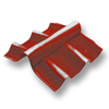Red Adjustable Angle Ridge Upper SCG Roman Tile Hybrid cheap price