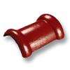 กระเบื้องคอนกรีต ตราเพชร แดงชบา ครอบสันโค้ง 2 ทาง ราคาถูก