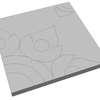Concrete Block La linear Royal Lotus 50x50x6 cm Orange cheap price