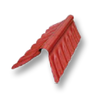 Diamond Small Corrugated Tile Mangmee Red Round Hip Ridge Upper/Under cheap price