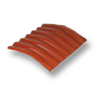 Diamond Small Corrugated Tile Golden Dragon Orange 15 Degree Ridge cheap price