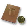 Prestige Shiney Brown Pipe Vent Tile Set cheap price