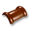 กระเบื้องคอนกรีต ตราเพชร ส้มคาซ่า ครอบสันโค้ง 2 ทาง ราคาถูก