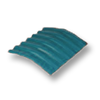 Diamond Small Corrugated Tile Mangkang Green 10 Degree Ridge cheap price