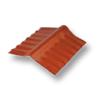 Diamond Small Corrugated Tile Golden Dragon Orange Adjustable Ridge Upper/Under cheap price
