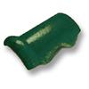กระเบื้องคอนกรีต ตราเพชร เขียวสนฉัตร ครอบโค้งชนผนัง ราคาถูก