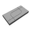 บล็อกปูพื้น ศิลาเหลี่ยม กราฟฟิค 03 30x60x6 ซม. แดง ราคาถูก