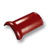 กระเบื้องคอนกรีต ตราเพชร แดงชบา ครอบสันโค้ง ราคาถูก
