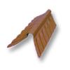 Diamond Small Corrugated Tile Sooksant Brown Round Hip Ridge Upper/Under cheap price