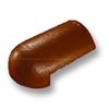 กระเบื้องคอนกรีต ตราเพชร ส้มคาซ่า ครอบโค้งหางมน ราคาถูก