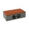 Concrete Block La linear Cool plus 10X20X6 cm Jazzy Orange cheap price
