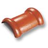 กระเบื้องคอนกรีต ตราเพชร ทองแดงศุภมงคล ครอบสันโค้ง 2 ทาง ราคาถูก