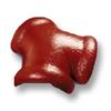 กระเบื้องคอนกรีต ตราเพชร แดงชบา ครอบโค้ง 3 ทาง ราคาถูก