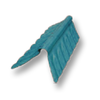 Diamond Small Corrugated Tile Mangkang Green Round Hip Ridge Upper/Under cheap price
