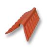 Diamond Small Corrugated Tile Golden Dragon Orange Round Hip Ridge Upper/Under cheap price