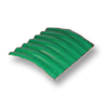 Diamond Small Corrugated Tile Sodchuen Green 20 Degree Ridge cheap price
