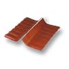Diamond Small Corrugated Tile Golden Dragon Orange Wall Ridge Left to Right cheap price
