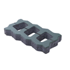 Uni turf 22.5x45x6 cm Green cheap price