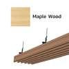 ฝ้าอลูมิเนียม ลายเส้น Metalworks ลายไม้ Maple Wood ราคาถูก