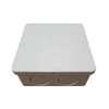 กล่องพักสายไฟ สี่เหลี่ยม 4x4 สีขาว พีวีซี อริยะ ราคาถูก