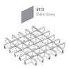 ฝ้าตะแกรงอลูมิเนียม ช่องเปิด Space Cubes สี 3113 Dark Grey ราคาถูก