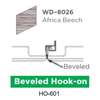 ฝ้าสแตนเลส Hook On ลายไม้ WD-8026 Africa Beech ราคาถูก
