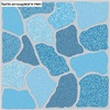 Floor Tile Premium Rocco Sky Blue Glossy 8x8 inches A Grade cheap price
