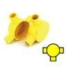 กล่องพักสายไฟ กลม 3 ทางที สีเหลือง พีวีซี อริยะ ราคาถูก