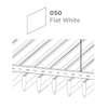 ฝ้าอลูมิเนียม ลายเส้น Linea Streamline สี 050 Flat White ราคาถูก