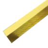 ร่องอลูมิเนียม 10 มม. 2 ม. ทอง ราคาถูก