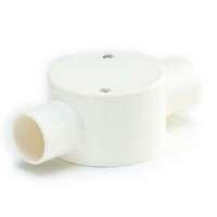 SCG PVC Electric Telecom White BS 2 Way Through Box cheap price