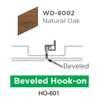 ฝ้าสแตนเลส Hook On ลายไม้ WD-8002 Natural Oak ราคาถูก