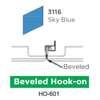 ฝ้าเหล็ก กัลวาไนซ์ Hook On สี 3116 Sky Blue ราคาถูก