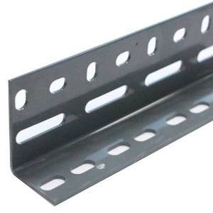 Steel Angle with Holes Grey/ Grey Galvanized L Shape 3 m 2 0 mm