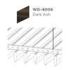 ฝ้าอลูมิเนียม ลายเส้น Linea Streamline ลายไม้ WD-8006 Dark Ash ราคาถูก