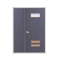 DoorTech Steel Door Half Double Doors ED-01 Hair Line Two Tone cheap price