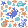 Floor Tile Premium Mini Crab Land Blue Glossy 8x8 inches A Grade cheap price