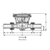 มาตรวัดน้ำ มิเตอร์น้ำ (ระบบเฟืองจักรชั้นเดียว) ซันวา SANWA ราคาถูก