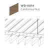 ฝ้าอลูมิเนียม ลายเส้น Linea Streamline ลายไม้ WD-8014 California Nut ราคาถูก