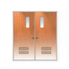 ประตูเหล็ก DoorTech บานคู่ ND-02 Teak Wood DTD-140 ราคาถูก
