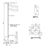 เสาธง ชุบกัลวาไนซ์ HDG ระบบเชือกชัก ราคาถูก