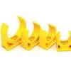 คลิปก้ามปู ร้อยสายไฟ สีเหลือง พีวีซี อริยะ ราคาถูก