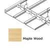 ฝ้าเหล็ก กัลวาไนซ์ ตัวเอฟ F-Plank Metalworks ลายไม้ Maple Wood ราคาถูก