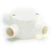 กล่องพักสายไฟ กลม 3 ทางที สีขาว BS พีวีซี เอสซีจี ราคาถูก