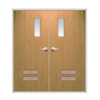 ประตูเหล็ก DoorTech บานคู่ ND-05 Water-Ash DTD-140 ราคาถูก