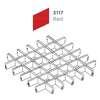 ฝ้าตะแกรงอลูมิเนียม ช่องเปิด Space Cubes สี 3117 Red ราคาถูก
