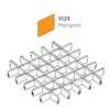 ฝ้าตะแกรงอลูมิเนียม ช่องเปิด Space Cubes สี 3125 Marigold ราคาถูก