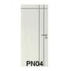 ประตู HDF UNIX Super PN04 เซาะร่อง ราคาถูก
