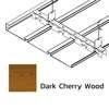ฝ้าเหล็ก กัลวาไนซ์ ตัวเอฟ F-Plank Metalworks ลายไม้ Dark Cherry Wood ราคาถูก